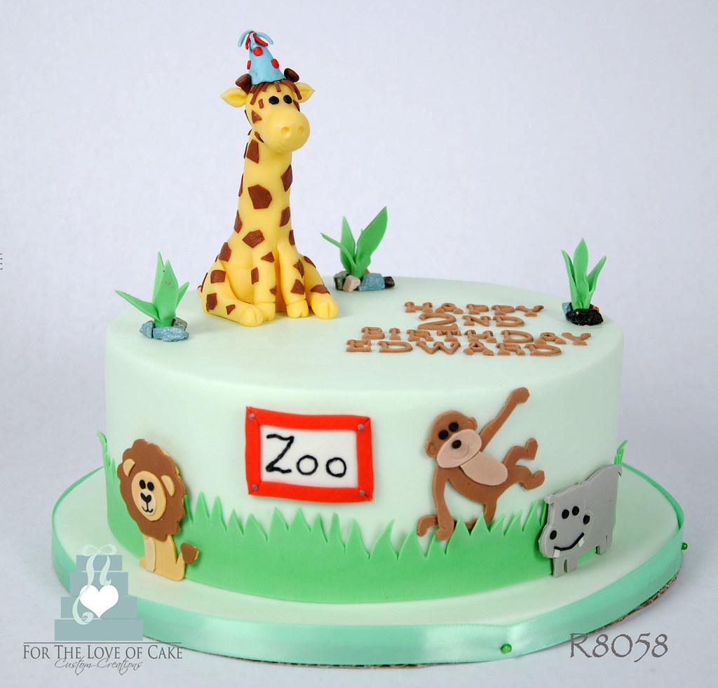 Wondrous R8058 Zoo Birthday Cake Toronto Oakville R8058 Zoo Birthda Flickr Funny Birthday Cards Online Amentibdeldamsfinfo