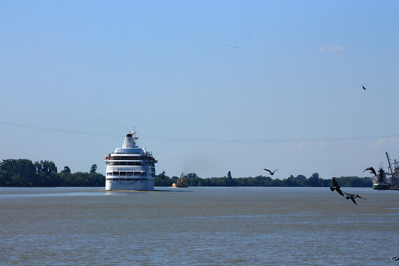 Appareillage du MS SILVER CLOUD - Bordeaux - Bassens - 05 juin 2013