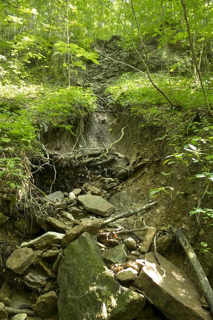 Landslide, Little South Fork drainage, Pickett Co, TN