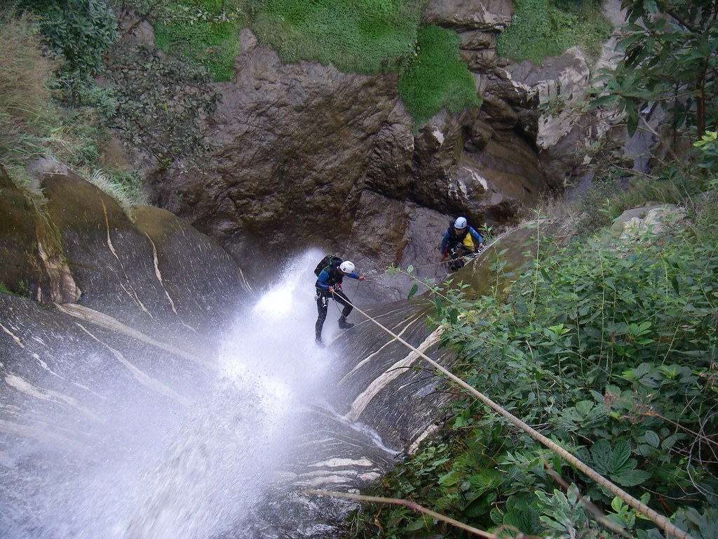Canyoning in Nepal.