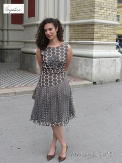 Nougat dress, view B