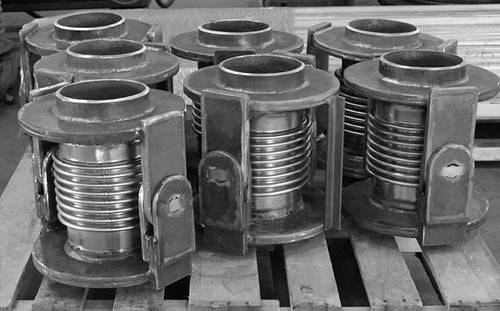 Single Hinged Expansion Joints Custom Designed for a Chemical Plant | by Pipe Supports and Expansion Joints