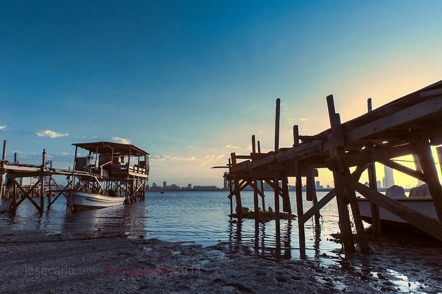 'Sunset at the Fishing Area', Muharraq, Bahrain (Infrared Photography)
