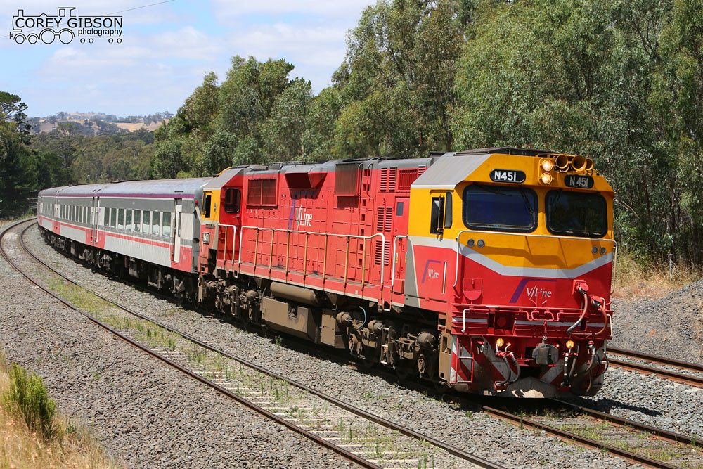 N451 with the up Shepparton Vline service by Corey Gibson