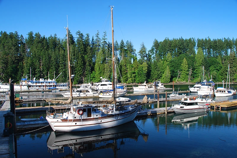 April Point Marina, Quathiaski Cove, Quadra Island, Discovery Islands, British Columbia, Canada