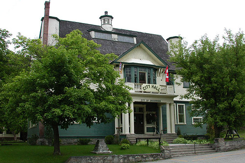 Greenwood City Hall, Greenwood, Boundary Country, British Columbia, Canada