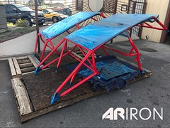 Red Razor roll cages #powdercoating #arironllc