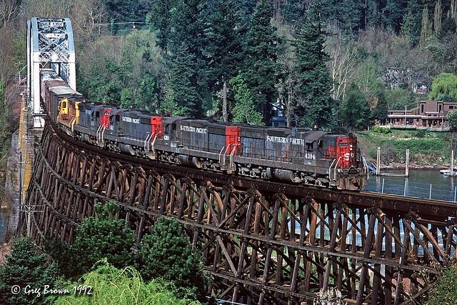 The Clackamas crossing the Willamette