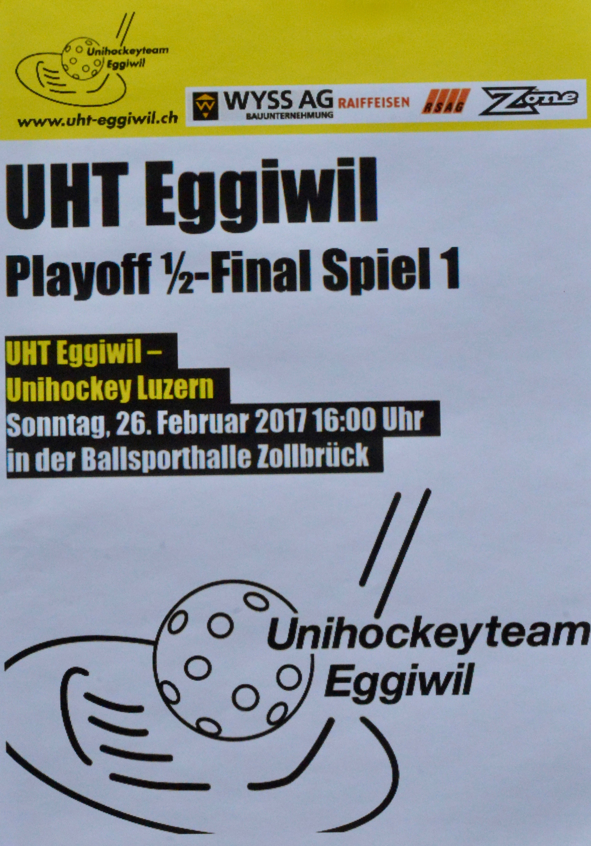 Herren I - Unihockey Luzern Halbfinal Spiel I Saison 2016/17