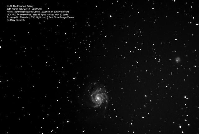 M101 The Pinwheel Galaxy 25/03/17