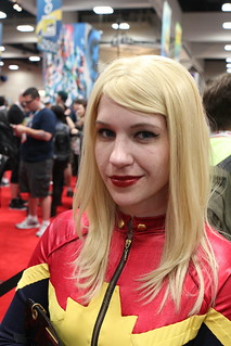 Lindsey as Captain Marvel.   by PatLoika