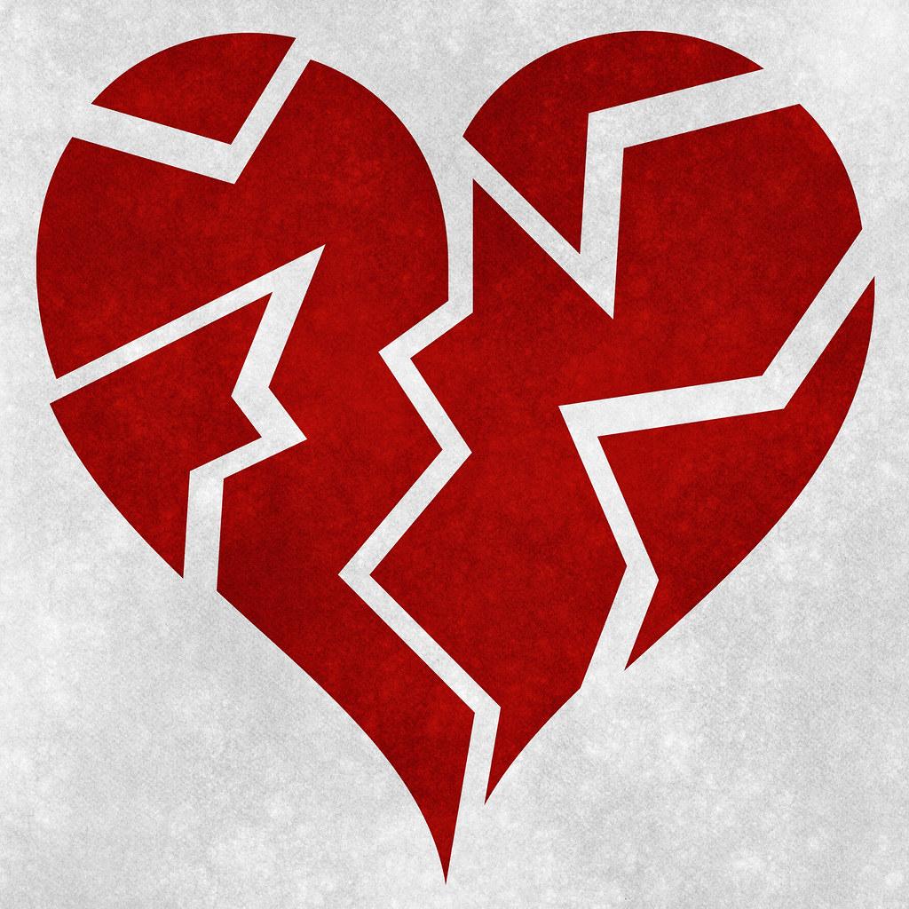 Broken Heart Grunge   Grunge textured broken heart symbol. T…   Flickr