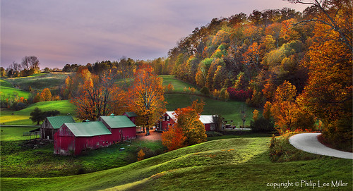 sunset nature landscape vermont d800 mapletrees countryroads jennefarm rollingfields famousbarns
