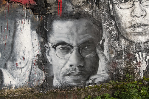 Malcom X, painted portrait DDC_8908 | by Abode of Chaos
