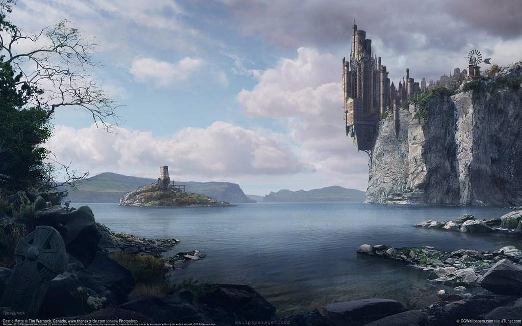 ... nature-fantasy-castle-wallpaper | by im_fantasy