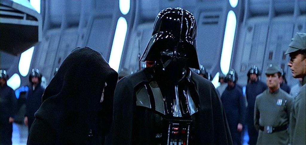 Resultado de imagem para star wars episode 6 palpatine and darth vader