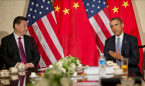 US President Barack Obama during a bilateral meeting with Chinese President Xi Jinping | by U.S. Embassy The Hague
