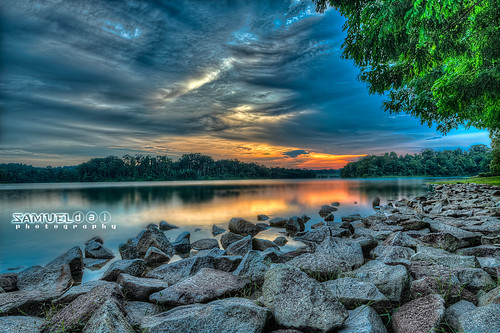 sunset cloud sun storm weather dark nikon singapore reservoir hdr d800 1635mm lowerpierce samueldai
