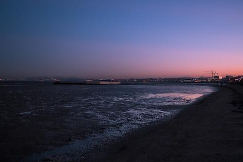 sunset sky sea seascape beach sand night ireland dublin europe earth european sony world 2016 outdoor outside landscape