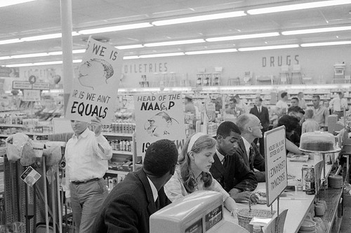 Nazis picket Arlington, VA civil rights sit-in: 1960