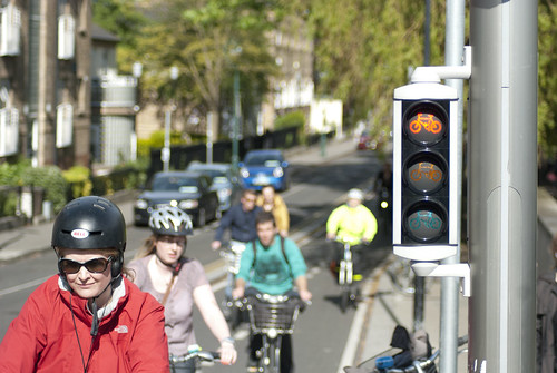 Cyclists at a red light | by Cian Ginty