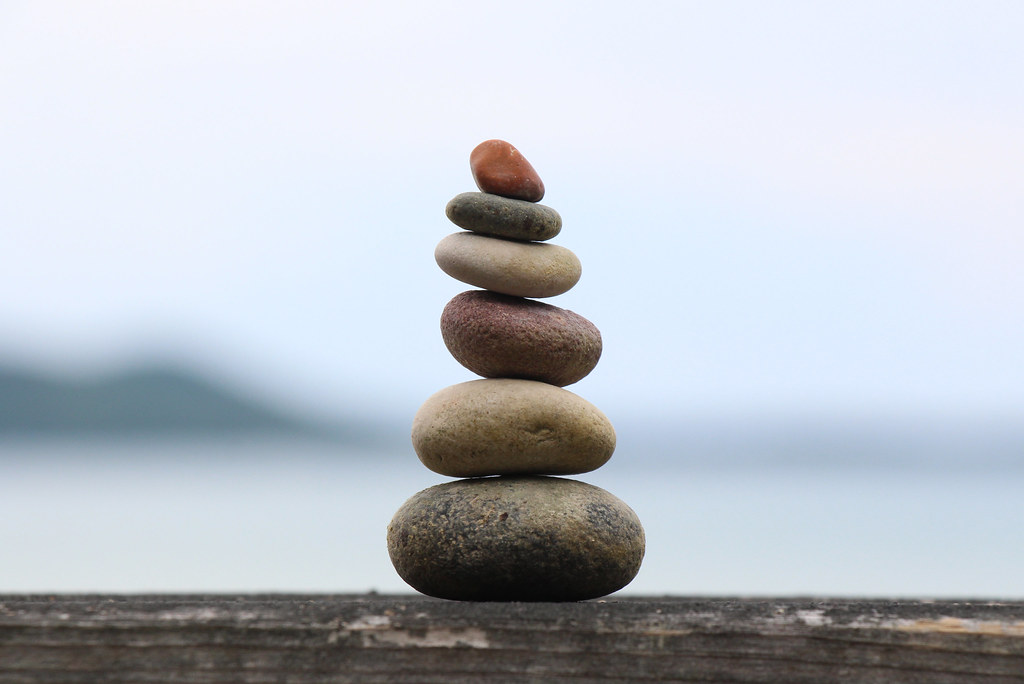 finding balance | collected many rocks for mini cairns ...