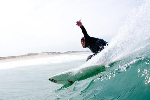Surfeur à Lacanau