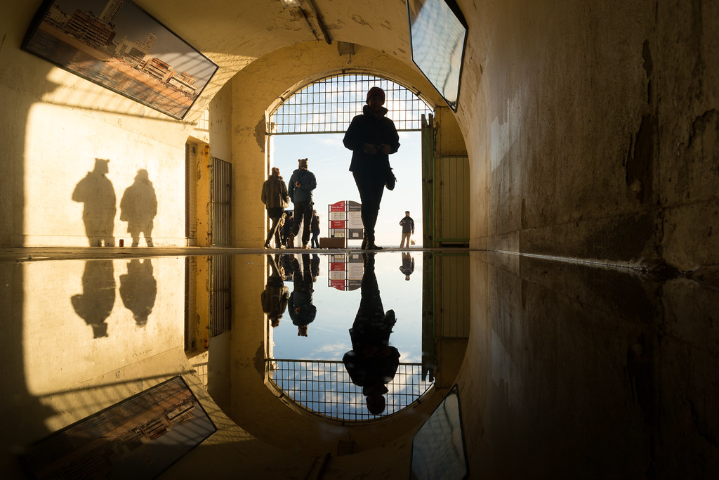 Reflection in Brighton Beach Tunnel