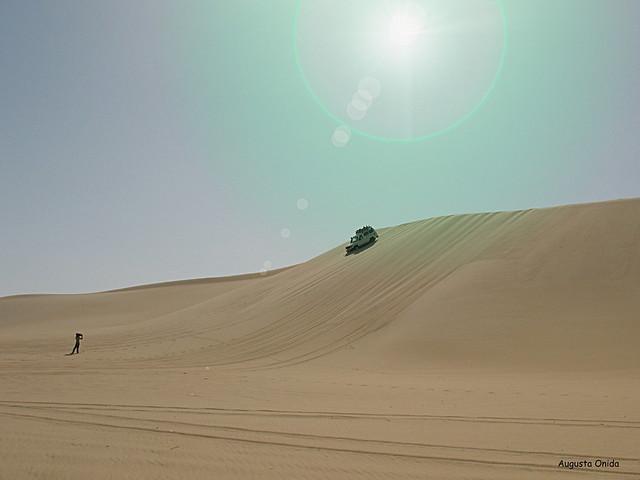Adventure in the desert. Through the
