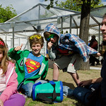 Out door superhero | Some of our younger visitors get into the superhero vibe