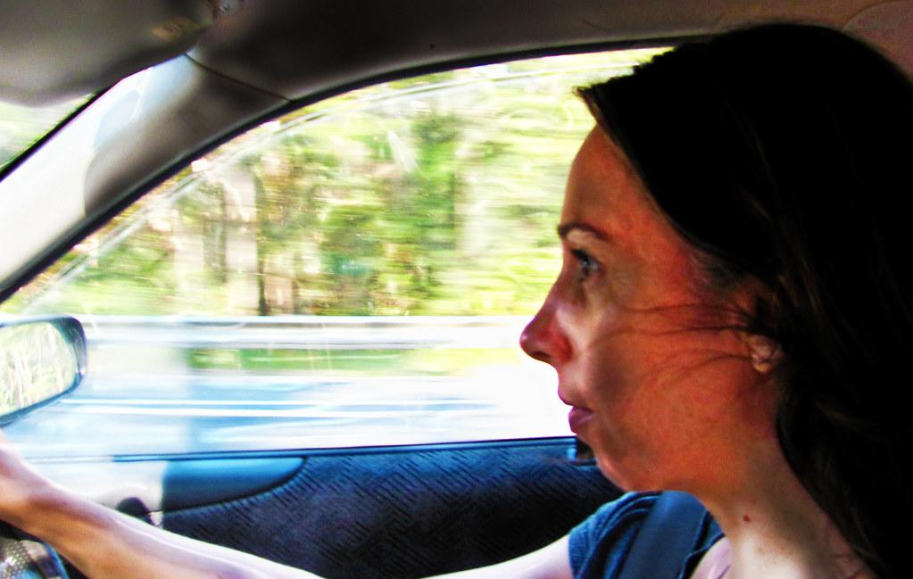 Image result for girl behind wheel shocked