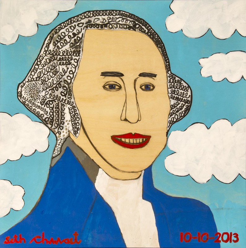 George Washington (20 x 20 acrylic on wood)