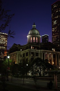Lights on at 1910 Harris County Courthouse | by AlphaTangoBravo / Adam Baker