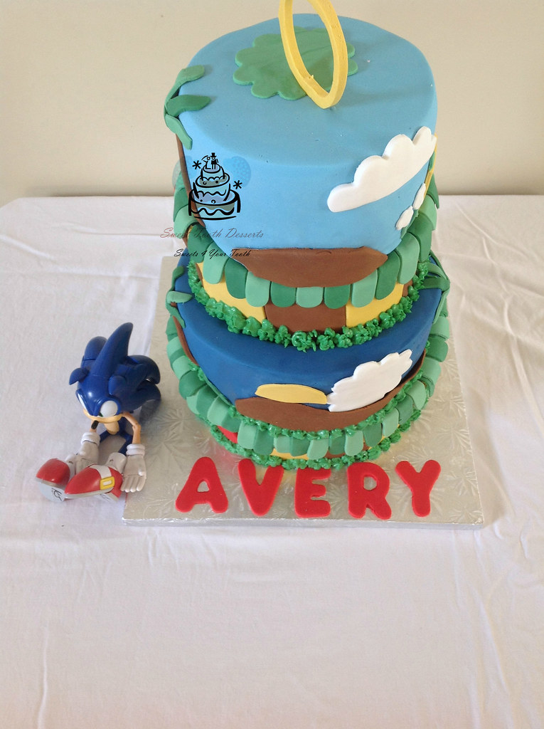 4 Tier Topsy Turvy Sonic The Hedgehog Birthday Cake Flickr