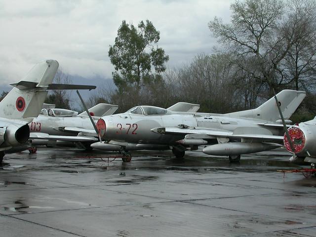 Shenyang F-6 3-72 c/n 7912 ex Albanian-AF. (Stored Tirana-Rinas, 14-03-2013)