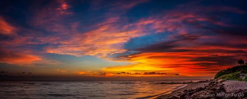sunset sky panorama nature landscape spring seascapes florida sunsets panoramic g5 beaches hdr goldenhour onawalk 3xp hardlight cloudsonfire 3exposures hdrphotography beachphotography sunsetmadness sunsetsniper panoimages3 caspersensbeach