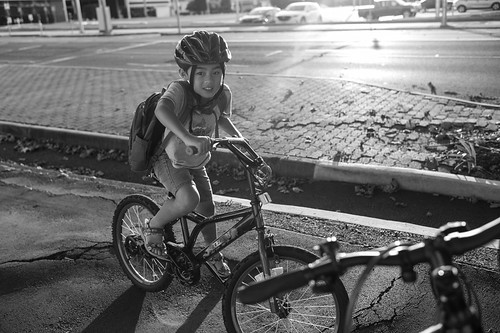 sunset bike bicycle biking boy boyhood child family monochrome mono bokeh leica summilux toowoomba queensland australia 35mm