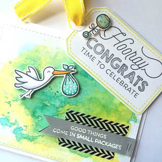 Baby shower card and tag | by Kimberly Toney