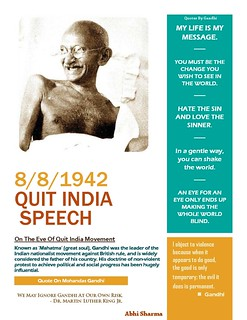 Quit India Speech By Mahatma Gandhi (1942)