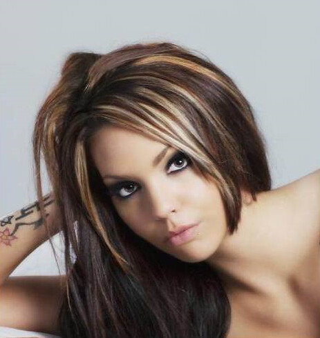 Brown Hair With Blonde Highlights Lowlights Hair Cut Style