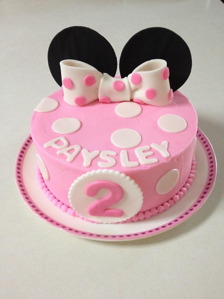 Peachy Minnie Mouse 2Nd Birthday Smash Cake Smash Cake No Layers Flickr Personalised Birthday Cards Veneteletsinfo