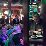 Night time in the Guardian Spiegeltent |