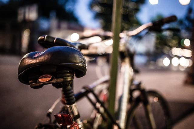 Bikes on bokeh