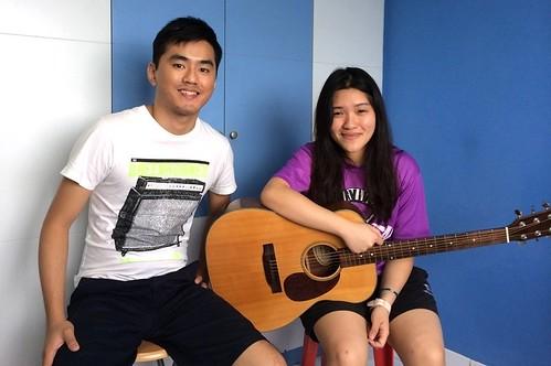 Private guitar lessons Singapore Cheryl