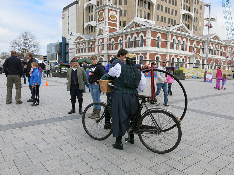Bikes in Cathedral Square