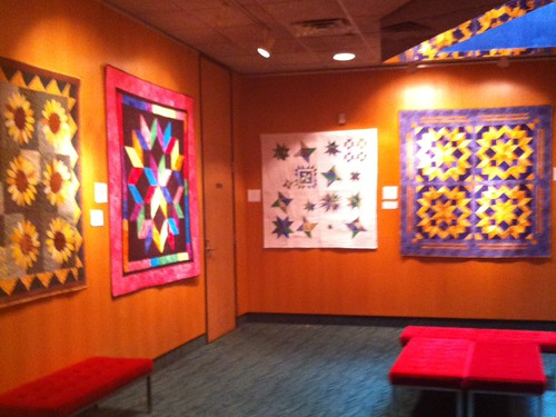 Garland Quilt Guild, Garland, TX display at Granville Performing Arts Center