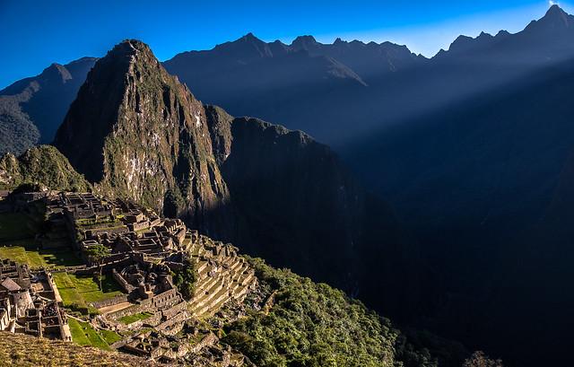 Sun Rise over Machu Picchu, Peru