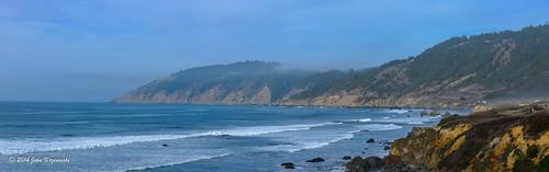 ocean california panorama fog coast nikon rocks waves cliffs highway1 pacificocean coastline westport stitched 28300mm pacificcoast pacificcoasthighway lostcoast johnk d600 nikond600 howardcreekranch johnkrzesinski randomok