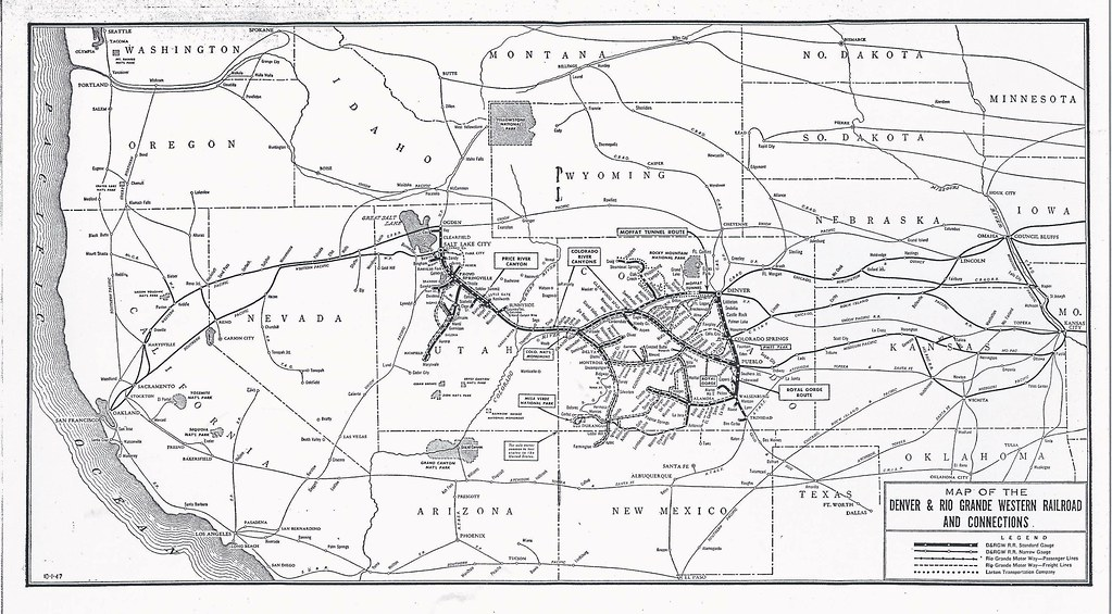 denver and rio grande western railroad map Drgw Denver Rio Grande Western Railroad System Map 19 Flickr denver and rio grande western railroad map