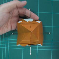 การพับกระดาษเป็นที่คั่นหนังสือหมีแว่น (Spectacled Bear Origami)  โดย Diego Quevedo 015